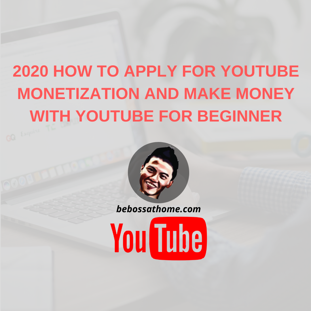 HOW TO APPLY FOR YOUTUBE MONETIZATION AND MAKE MONEY WITH YOUTUBE FOR BEGINNER There are a couple of ways that you can earn money from youtube 1)Affiliate marketing 2)Youtube ads 3)Selling online courses 4)Selling products 5)Sponsor videos