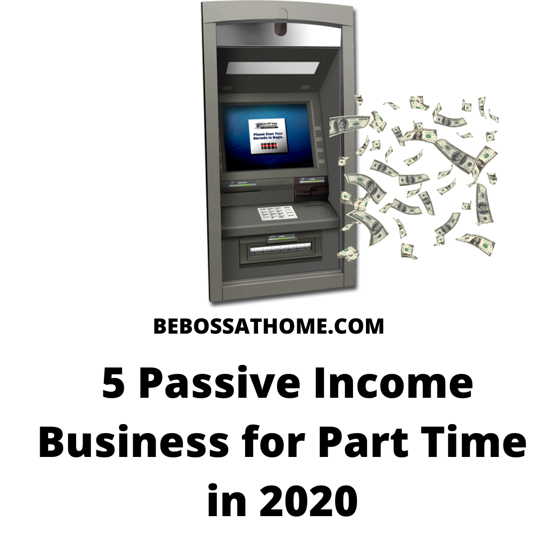 in this video I will be sharing with you 5 Part Time Online Business For Passive Income that you can start today , start now in 2020.You are required to work a minimum of 3 hours a day to make this online business works.