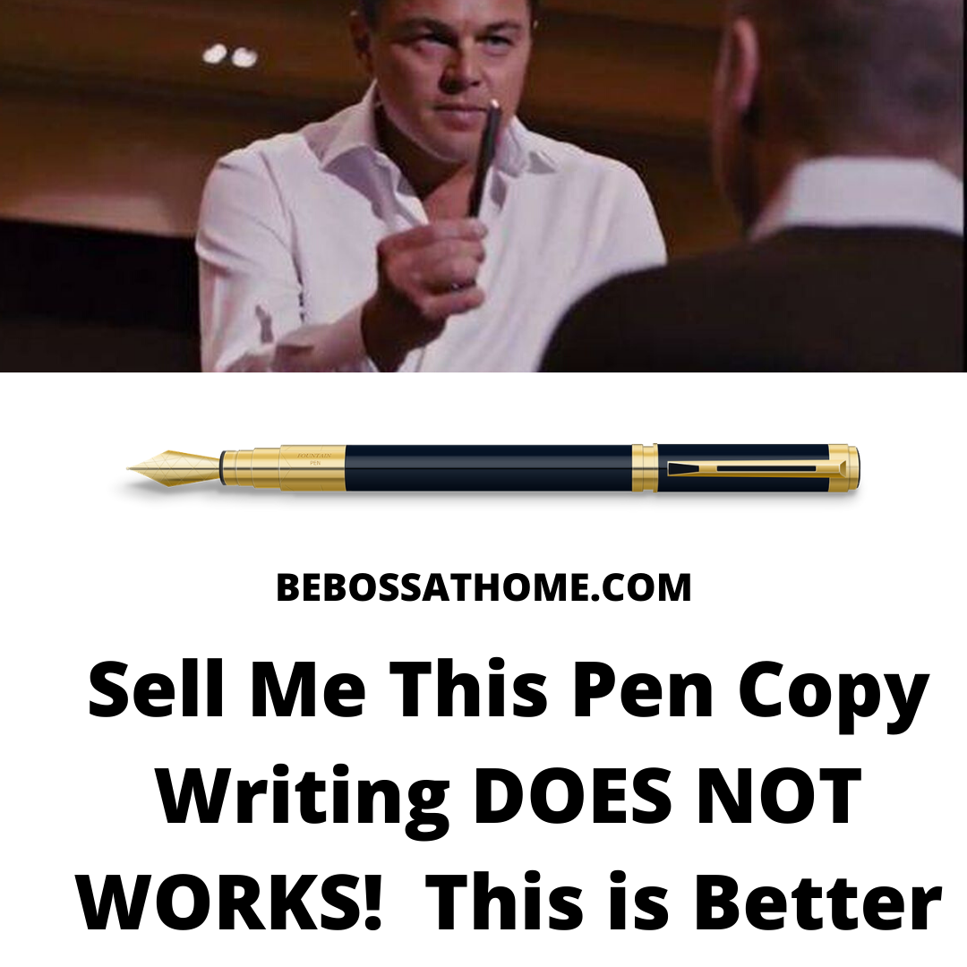 "I will be sharing with you why the famous "" sell me this pen "" does not works in copy writing to generate sales .The popular classic ""sell me this pen""sales scenario from ""The Wolf of Wall Street"""
