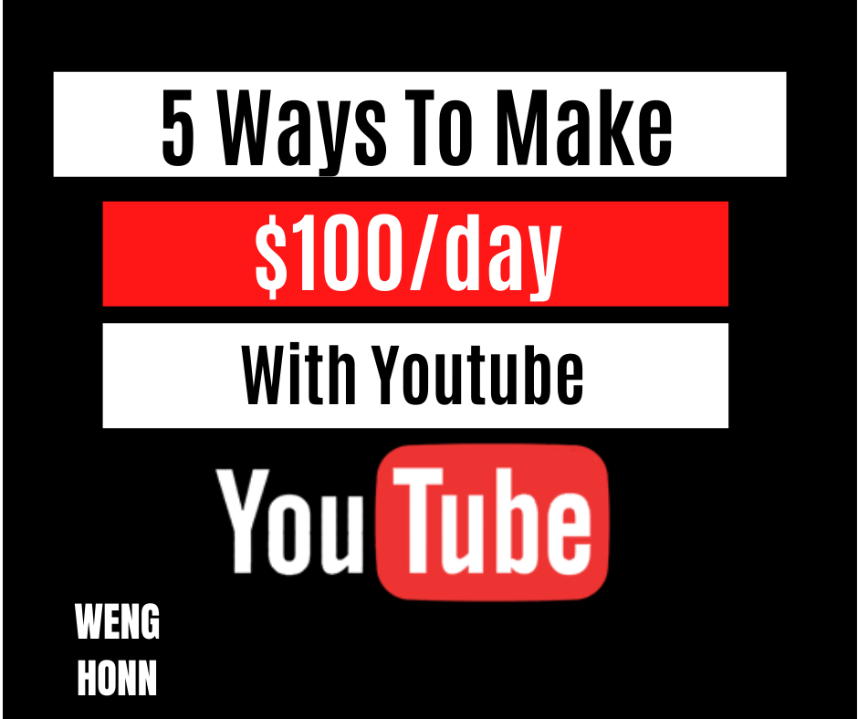 5 Ways to Make $100/day Using Youtube.Let the top 5 easy way to earn money on youtube without video!